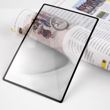 80x120mmhot selling Convinient A5 Flat PVC Magnifier Sheet X3 Book Page Magnification Magnifying Reading Glass Lens
