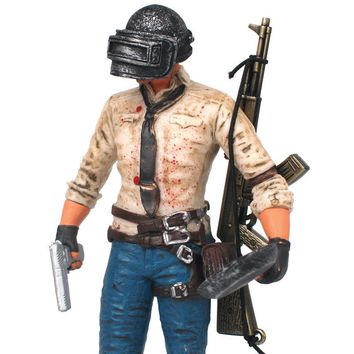 17cm PUBG Game Player Unknown Battlegrounds WINNER CHICKEN DINNER Action Figure Toy Doll Collection Model Decoration Gift
