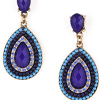 Elegant Blue Stone Drop Earring