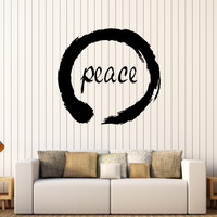 Vinyl Wall Decal Peace Enso Circle Zen Meditation Yoga Stickers Mural Unique Gift (233ig)