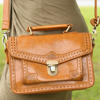 Just Say The Word Purse: Camel - One