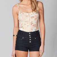 FULL TILT Floral Hook & Eye Corset Top