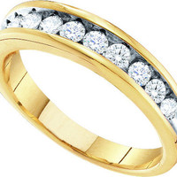 Diamond Ladies Fashion Ring in 10k White Gold 0.5 ctw