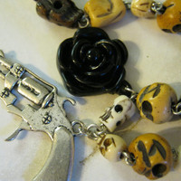 Gun Skull Necklace