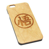 Goku Symbol Inspired Wood EngravediPhone 6s Case iPhone 6 Case iPhone 6s 6 Plus Cover Natural Wooden iPhone 5s 5 Case Samsung Galaxy S7 Edge S6 S5 Case D129