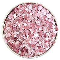 Light Pink Star Edible Glitter