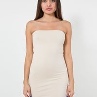rsa8343 - Cotton Spandex Jersey Too-Short Tube Dress