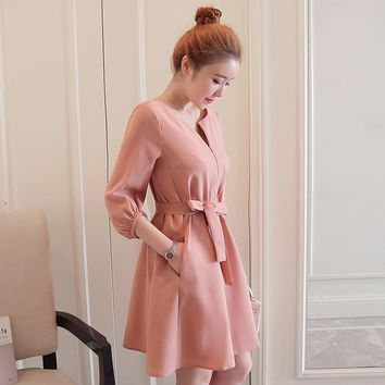 Fashion Nursing Pregnancy Dresses Elegant for pregnant Women Clothes Long sleeve Maternity Dresses for Party Maternity Clothing