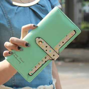 New Leather Printing Long Draw-out Type Female Wallet = 1932766660