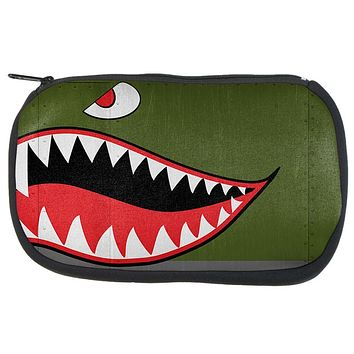 Halloween WWII Flying Tiger Fighter Shark Nose Art Travel Bag