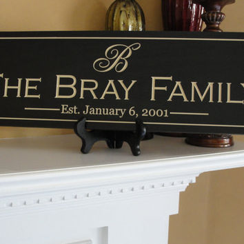 Personalized Sign Engraved Family name signs by michaelswoodworks