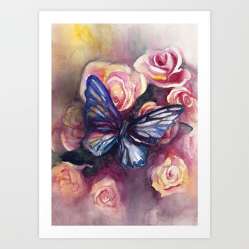 Scent Of Roses Art Print by MIKART