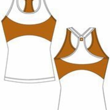 Texas Longhorns Ladies' Fit Yoga Tank Top (X-Large)