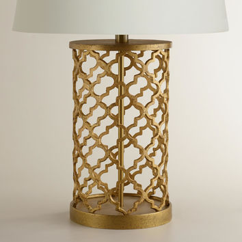 Distressed Gold Moroccan Table Lamp Base - World Market