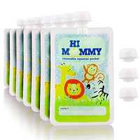 Reusable Baby Food Pouch Large 7 Pack by HiMOMMY - Homemade Organic Healthy Food for Kids & Toddlers - Refillable Storage Containers with Double Zip for Veg, Fruit, Smoothies & Yoghurt