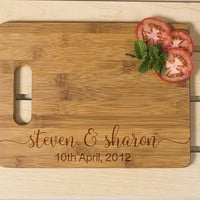 Personalized cutting board, Wedding Gift, Kitchen Decor,  Housewarming Gift, Couple's Name  Engraved Cutting Board, Chopping board