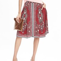 Geo-Print Boho Skirt | Banana Republic