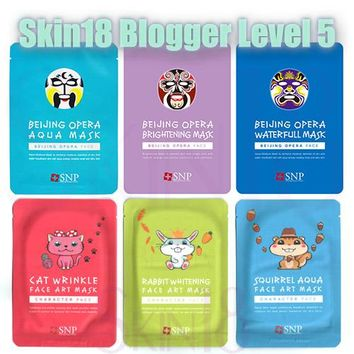 Blogger's Pack (Level 5) SNP Face Art Mask & SNP Beijing Opera Mask x 5pcs