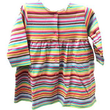 Zutano Super Stripe Long Sleeve Dress 6-12 months