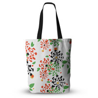 "Sonal Nathwani ""Multi Bouquet"" Orange Green Everything Tote Bag"