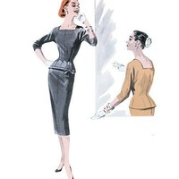 Sexy Wiggle Dress from 1955 Butterick Reissue by MissBettysAttic