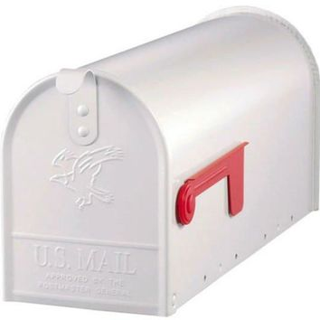 Gibraltar E1100W00 Elite Post Mount Rural Mailbox, Standard Size T1, White