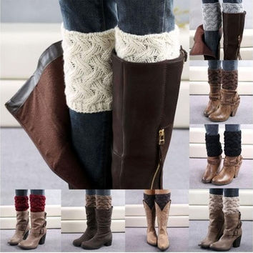 Women Coarse Needle Leg Warmers Socks Boot Cover With High Quality [8833395404]