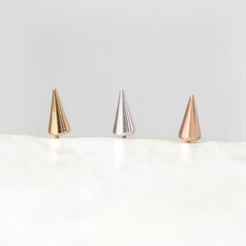 Little Spike earrings / choose your color / gold, silver and pink gold