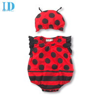 IDGIRL Baby Summer Bodysuits Baby Girls Boys Costumes Newborn Jumpsuit Overalls One Piece Clothes With Hat JY0218