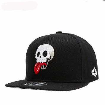 Skeleton Embroidered Caps Fashion Skull Baseball Cap Men And Women Winter Streetwear Dancers Snapback Korean Hip Hop Fashion