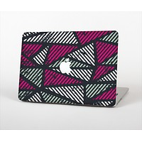 The Abstract Striped Vibrant Trangles Skin Set for the Apple MacBook Air 13""
