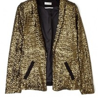 Night Flame Gold Sequin Jacket by Day Birger Et Mikkelsen