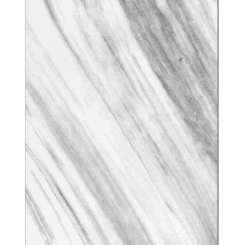 White Marble Pattern Aluminum Magnet All Over Print by TooLoud