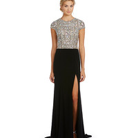 Terani Couture Beaded-Bodice Gown | Dillards
