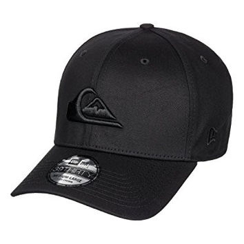 Quiksilver Men's Mountain & Wave Black Stretch Fit Hat Black Sm
