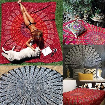 VONESC6 Indian Decor Mandala Tapestry Wall Hanging Hippie Throw Bohemian Twin Bedspread Curtain Beach Towel Yoga Mat Blancket