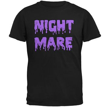 Halloween Nightmare Horror Purple Dripping Text Mens T Shirt