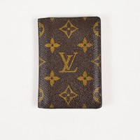 "Louis Vuitton Brown Monogram Coated Canvas ""Pocket Organizer"" Wallet"