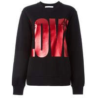 Indie Designs Givenchy Inspired Black Cotton Love Sweatshirt