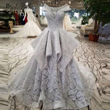 modabelle Arabe Kaftan Gray Evening Dress Sequin With Embroidery Real Photo 2018 Peplum Evening Gowns Pink Engagement Dress