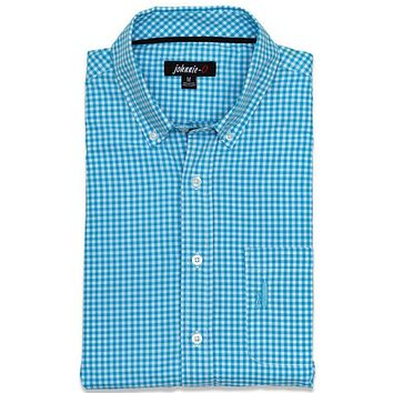 The Berner Button-Down in Blue Mist by Johnnie-O