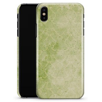 Faded Green Grunge Inflated Damask Pattern - iPhone X Clipit Case