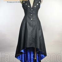 Elegant Gothic Aristocrat Corset Pleated Vest Long Coat - fanplusfriend