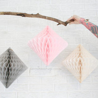wedding decoration ... diamond lantern ... paper party decor // weddings // birthday party // baby shower // nursery
