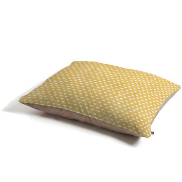 Allyson Johnson Dainty Yellow Hearts Pet Bed