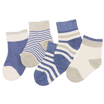 5 Pairs Unisex Baby Toddlers Kids Cotton Cozy Crew Ankle Socks for 0-5 Years