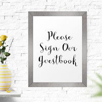 Please Sign Our Guestbook Print, Typography Print, Printable Quote, Printable Decor