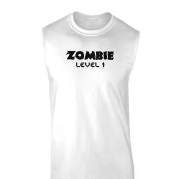 Zombie Level 1 - Funny - Halloween Muscle Shirt