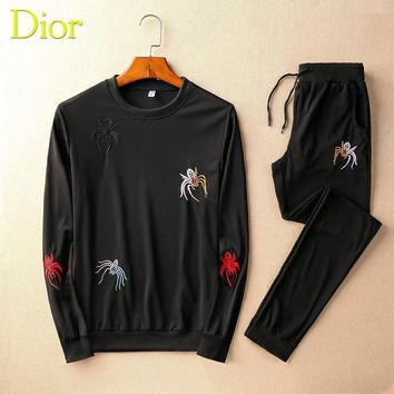 Dior Top Sweater Pullover Pants Trousers Set Two-Piece Sportswear