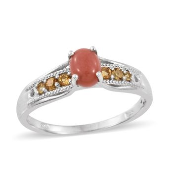 Oregon Peach Opal Sterling Silver Ring